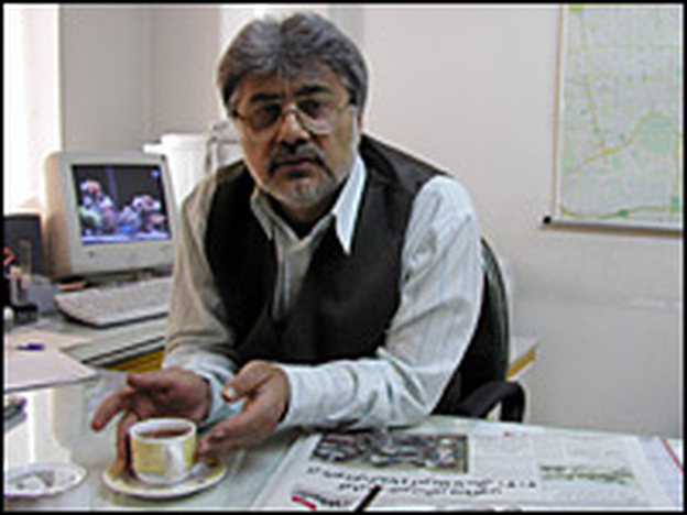 Journalist Issa Saharkhiz is deeply involved in reformist politics and is a critic of the Iranian government. He is pictured here in February 2004, when he ran his own newspaper, the daily <em>Economic News</em>. At the time, Saharkhiz had worked on numerous publications that had been closed by Iran's judiciary. Two years ago, he lost this paper as well.