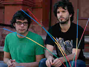 Jemaine Clement and Bret McKenzie in 'Flight of the Conchords'