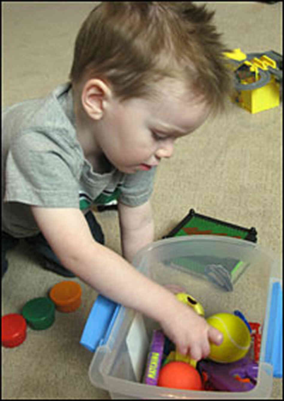 Ben Johnson, 2, has developmental delays due to autism.