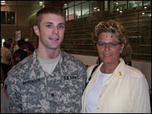 Army Spc. Robert Sprenger and his mother, Vicky