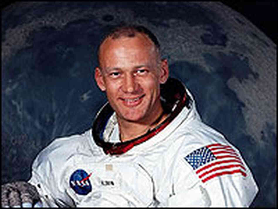 A portrait of Buzz Aldrin in 1969.