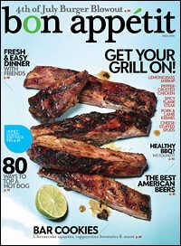 July 2009 cover of 'Bon Appetit' magazine