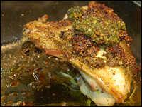 Chicken Breasts with Pistachio-Cilantro Pesto