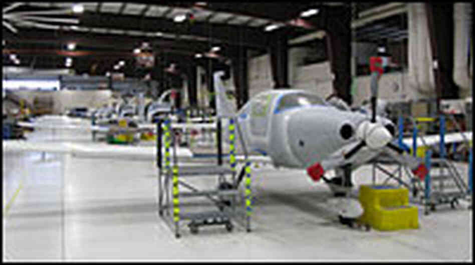 Cessna assembly line, Bend, Ore.