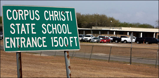 Sign for Corpus  Christi State School