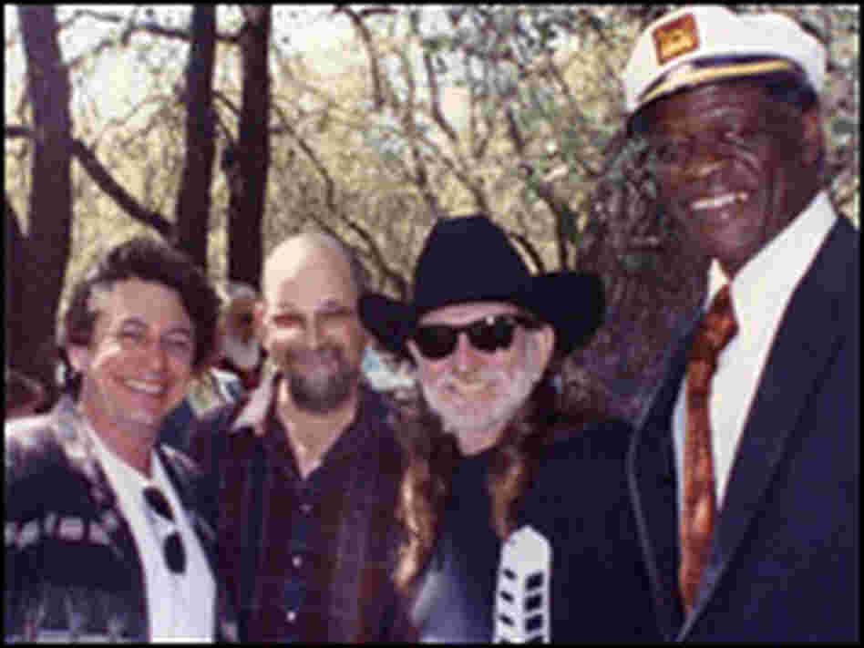 Stubb with Joe Ely, Jim Franklin and Willie Nelson