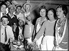 The Chili Queens of Jaymarket Plaza in San Antonio, Texas, 1933.