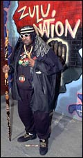 Afrika Bambaataa with Zulu graffiti
