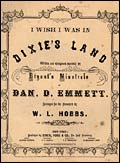 Cover of original 'Dixie's Land' sheet music