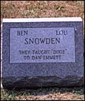Ben and Lou Snowden headstone