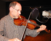 Paul Brown plays fiddle