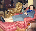 Judy Carr relaxing in recliner