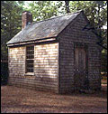 Reproduction of Thoreau's cabin