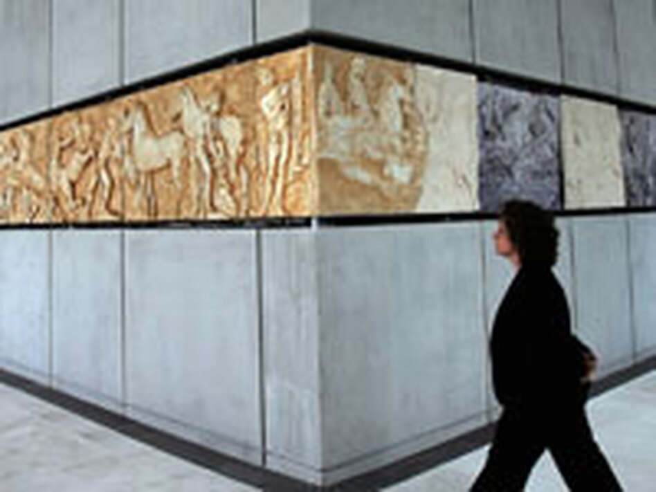 The new Acropolis Museum has crafted plaster reproductions in the gaps of its Parthenon frieze collection. Many of the missing pieces are in the British Museum collection. Other missing pieces have been lost forever.