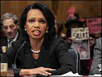 Condoleezza Rice testifies before the Senate Foreign Relations Committee.