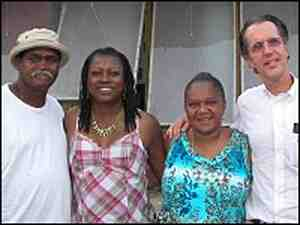 From left: Ronald and Charlotte Lewis, Patrina Peters and Jed Horne