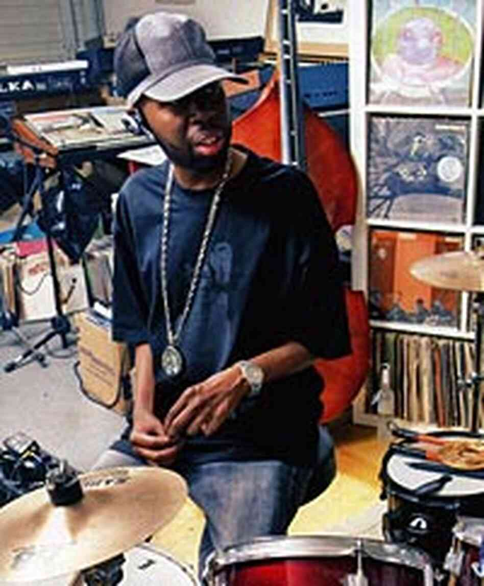 Jay Dee AKA J Dilla in the studio.