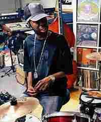 Jay Dee AKA J Dilla in the studio.