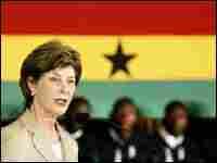 US First Lady Laura Bush