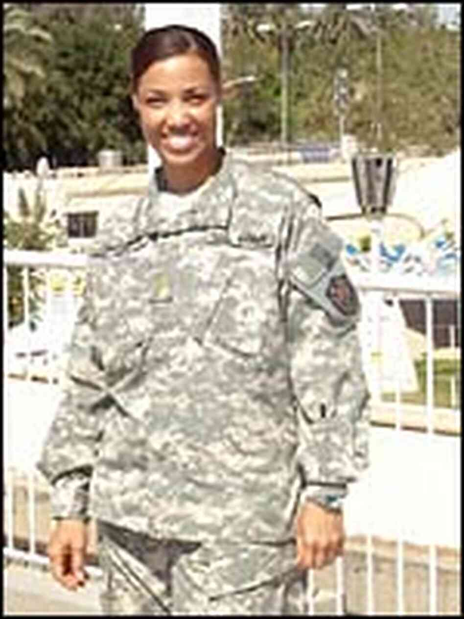 Army Reserve Maj. Michele Spencer in uniform.