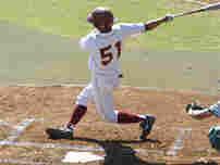 Photo of a little league baseball game