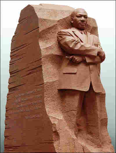 Side Profile of Sculpted Stone of Hope