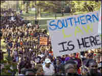 Protesters march through Jena, La.