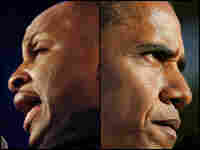 ev. Donnie McClurkin, (left), and Barack Obama, (right)
