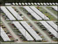 A large FEMA trailer park