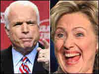 Sen. John McCain (left) and Sen. Hillary Clinton (right)