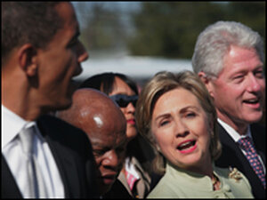 Obama, Lewis and Clinton