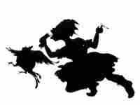 Kara Walker, Keys to the Coop, 1997, linoleum cut.