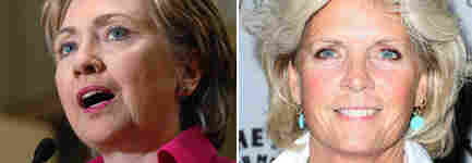 Hillary Clinton and Meredith Baxter