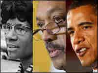 Shirley Chisolm, Jesse Jackson and Barack Obama
