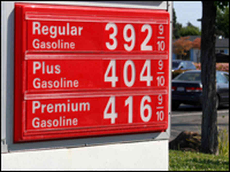 Gas prices in Fremont, Calif.