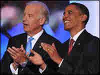 Barack Obama and running mate Joe Biden