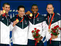 Michael Phelps, Garrett Weber-Gale, Cullen Jones, Jason Lezak