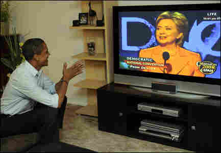 Obama Watching Hillary Clinton DNC Speech / Credit: Getty Images