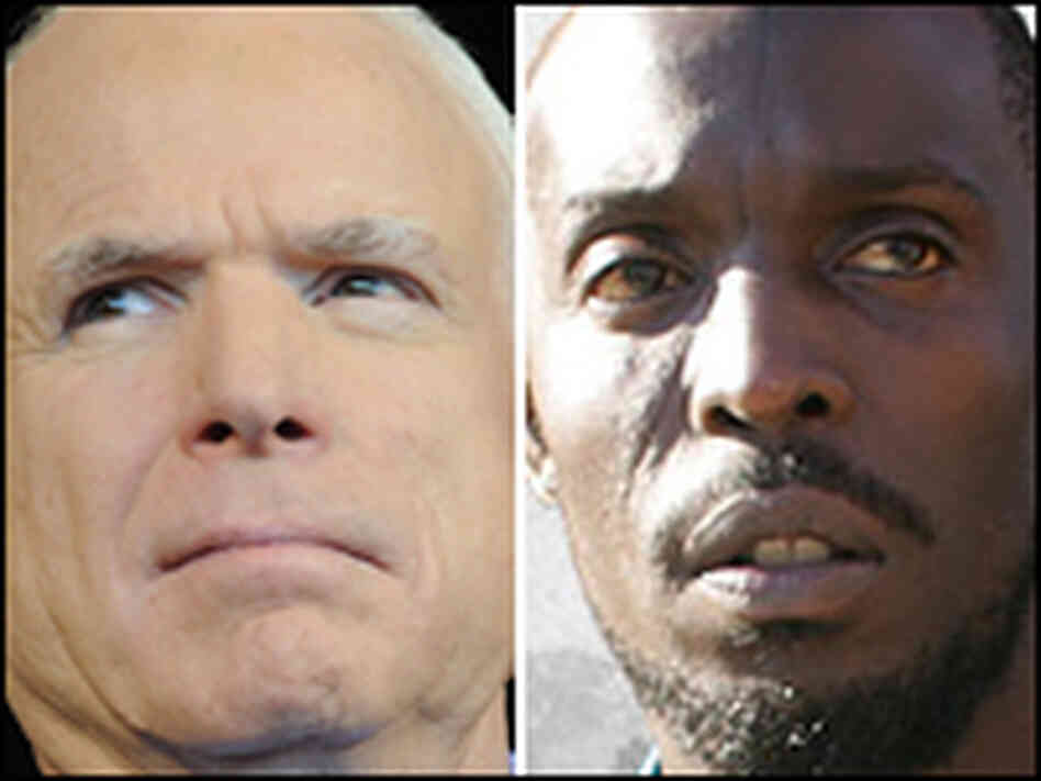 John McCain and Omar Little