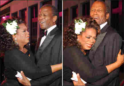 Oprah Winfrey and Sidney Poitier