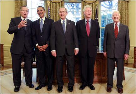 President-elect Barack Obama joins U.S. living presidents for lunch