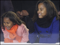 President Barack Obama's daughters