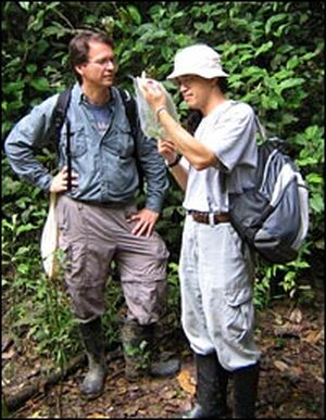 Rex Cocroft and his chief collaborator in the Ecuador research project, Dr. Chung Ping Lin