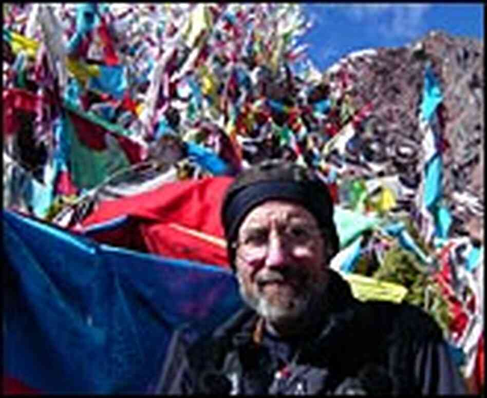 Bill McQuay and prayer flags