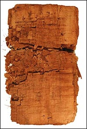 The codex containing the Gospel of Judas was torn and crumbling before conservation work began.