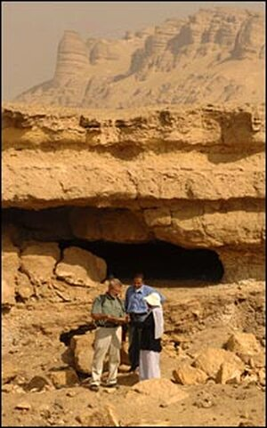 Caves in the area north and east of El Minya, Egypt.