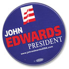 'John Edwards for President' button