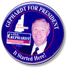 'Gephardt for President' button