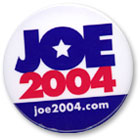 'Joe 2004' presidential campaign button