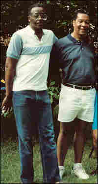 Otis Wade and Mandred Henry in a 1990 family reunion photo.